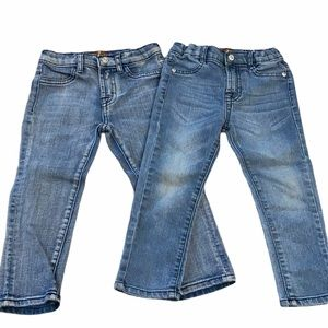 7 For All Mankind Skinny Blue Jeans size 2T